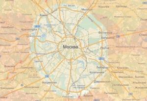 Карта территории обслуживания